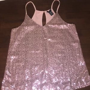 Beautiful Sequined Tank Top Size Small